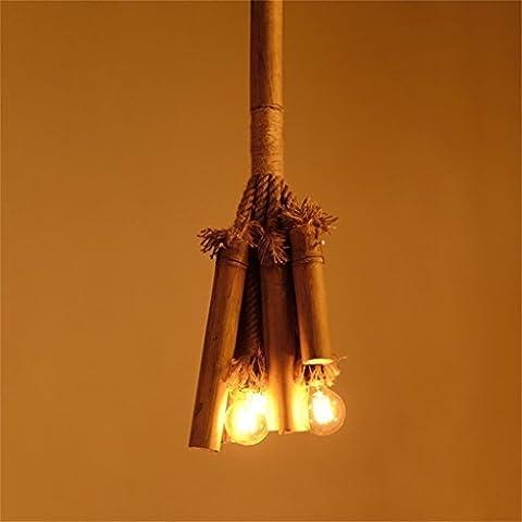 Amour illuminazione, canapa lampadari di bambù minimalista Art Cafe Bar