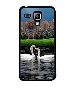 PrintVisa Designer Back Case Cover for Samsung Galaxy S3 Mini I8190 :: Samsung I8190 Galaxy S Iii Mini :: Samsung I8190N Galaxy S Iii Mini (Romantic White Swan do hanso ka joda)