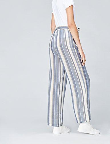 FIND Damen Hose mit Streifenmuster Blau (Blue Stripe)