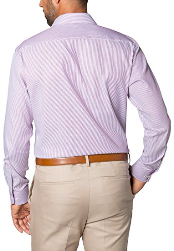 ETERNA long sleeve Shirt MODERN FIT Twill striped Rosso