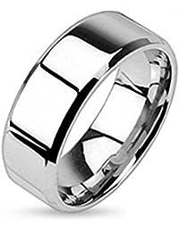 Taffstyle® Edelstahl Bandring Partnerring Ehe Paar Ring Freundschaftsring poliert für Damen Herren