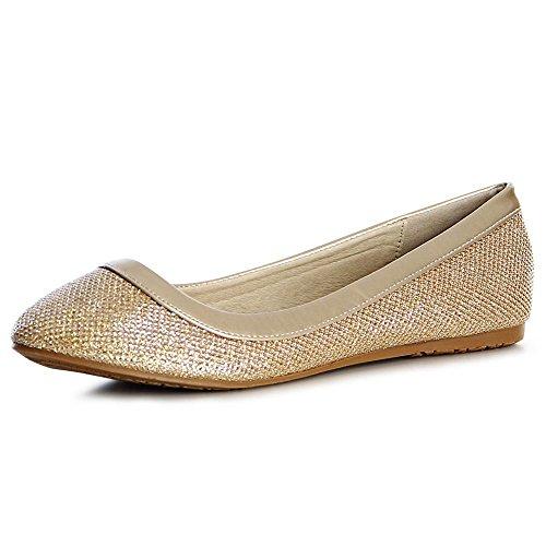 topschuhe24, Ballerine donna Gold