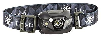 I-Lumen extrem leichte LED Stirnlampe mit Kopfband dimmbar nur 48 Gramm