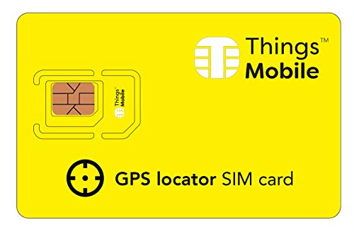 SIM-Karte für GPS-ORTUNGSGERÄT - Things Mobile - mit weltweiter Netzabdeckung und Mehrfachanbieternetz GSM/2G/3G/4G. Ohne Fixkosten und ohne Verfallsdatum. 10 € Guthaben inklusive Mobile-sim-karte