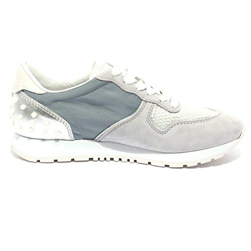 B1277 sneaker donna TOD'S scarpa sportiva grigio/azzurro shoes women grigio/azzurro chiaro