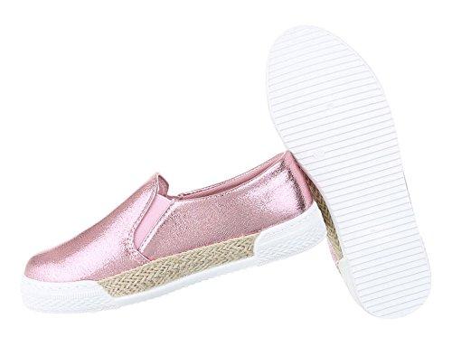 Flats 37 Slipper Rosa Halbschuhe On Slip 41 Schuhe 40 39 Damen Silber 38 Pink Schwarz Mokassins Loafer Gold 36 AqXHE6x