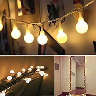 50 LED Cadena de Luces con Manda a Distancia 8 Modos Luces Decorativas, Luzuréa Guirnaldas Luminosas para Exterior,Interior, Jardines, Casas, Boda, Fiesta de Navidad (Amarillo)