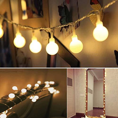 50 LED Cadena Luces Manda Distancia 8 Modos Luces