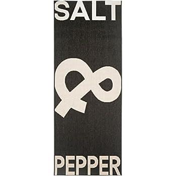 Pflegeleichter teppich  benuta Küchenläufer Salt & Pepper Schwarz/Weiß 80x200 cm ...