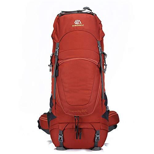 or-Profi Berg Taschen 80L Rucksack Multifunktionale Rucksack Wandern (Color : Red, Size : 33 * 23 * 85cm) ()