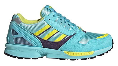 adidas Originals ZX 8000, Clear Aqua-Light Aqua-Shock Yellow, 10