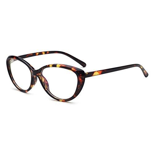 Hibote Männer Frauen Cat Eye Brille - Klare Linse Brillengestell - Mode Brillen Eyewear 122903