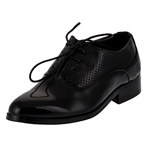 Festliche Anzug Schuhe Matt oder Lackschuh für Jungen (32, 200sw Glanz)