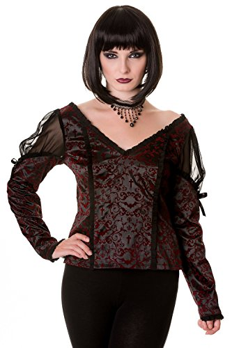Banned Apparel - Gothic Ivy Pattern Top XL