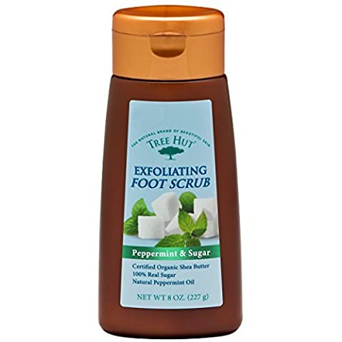 Tree Hut Exfoliating Foot Scrub, Peppermint and Sugar , 8-Ounce by Tree Hut