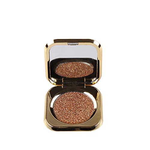 Beste Lidschatten Palette Augenpalette Eyeshadow Make Up Kosmetik Warme Natürliche Farben in Matt Schimmer Monochrome Eye Shadow Persistent Coloring Highlights Schönheits-Gold-Lidschatten(D) -