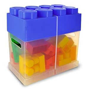 Briques de construction Abrick : Maxi brique 20 pièces : Bleu foncé