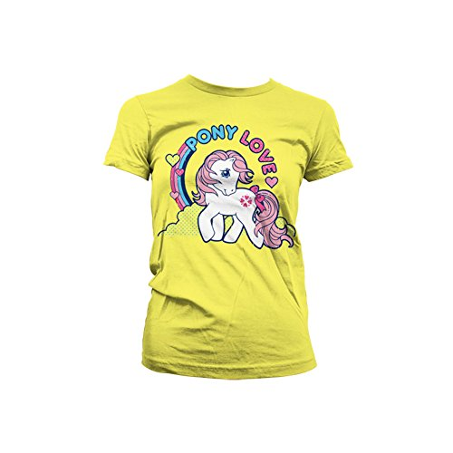 Officially Licensed Merchandise My Little Pony - Pony Love Girly Tee (Yellow), XX-Large