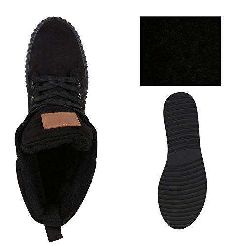 Stiefelparadies - Scarpe con plateau Donna Nero