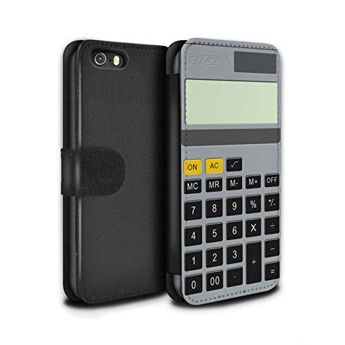 STUFF4 PU-Leder Hülle/Case/Tasche/Cover für Apple iPhone 5/5S / Klavier/Piano Muster / Schaltfläche/Tasten Kollektion Kalkulator