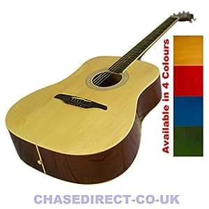 Chase Guvnor Par GA300–Dreadnought-Guitare acoustique cordes en acier Finition rouge