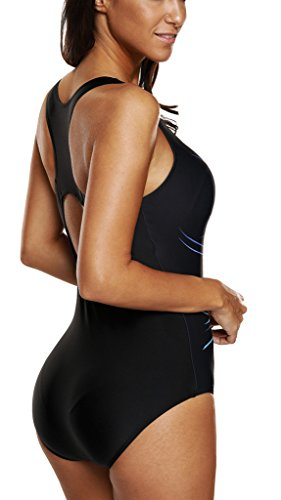Charmleaks Womens One Piece Swimsuit Sport Swimming Costume Training