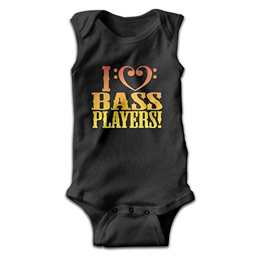 AZGNHM Infant I Love Bass Players Onesies Outfits -