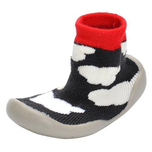 Gazechimp Calcetines Zapatos para Recién Nacido Niños Unisexo Comodo - Raya, 22,23