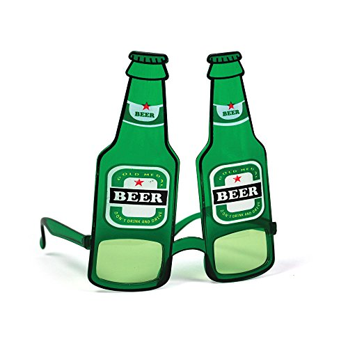 Bristol Novelty BA278 Bierflasche Brille, Unisex- Erwachsene, grün, Einheitsgröße