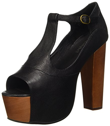 Jeffrey Campbell Foxy Leather Sandali con tacco, Donna, Nero, 39