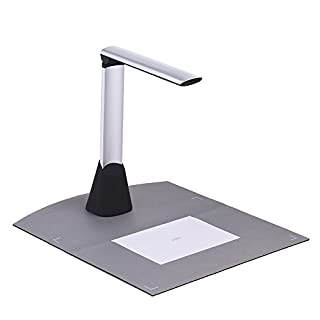 Aibecy Portable High Speed USB Book Image Document Camera Scanner 10 Mega-Pixel HD High-Definition Max A4 Scanning Size with OCR Function LED Light for Classroom Office Library Bank