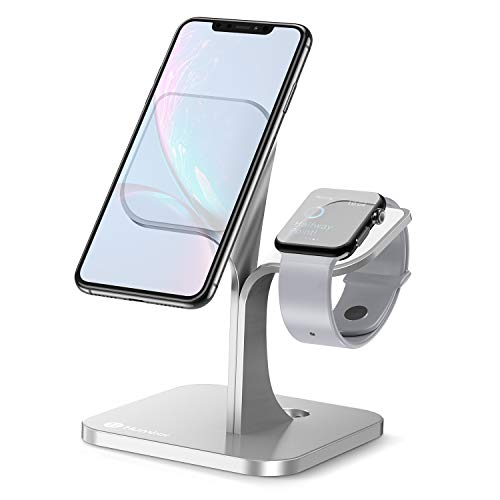 Humixx Handy Halter, 2 in 1 Smartphone Ständer Nanosorption Aluminiumlegierung Handy Ständer, Kompatibel mit iPhone, iPad Mini, Apple Watch, Kindle, Samsung Galaxy, Tablets (4-7.9 in) - Silber Ipad 1 Docking-station