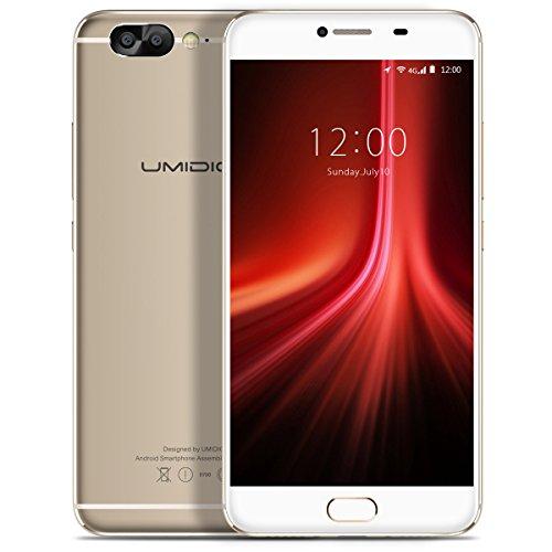 "Smartphone Libre, UMIDIGI Z1 4G Teléfonos Móviles Libres, 5.5 ""SHARP FHD Pantalla, MT6757 Octa-Core 2.3Ghz, Android 7.0, SIM dual, RAM de 6GB RAM + 64GB, cámara dual de 5MP + 13MP, 4000mAh - Plata"