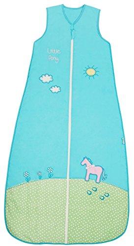 Ganzjahresschlafsack für Mädchen in türkis 2.5 Tog 130cm/3-6 Jahre - Pony ()