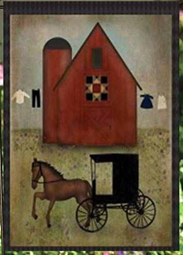 Flaggen Galore Decor & More Amish Barn and Buggy Gartenflagge