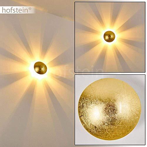 Applique murale Mezia en métal doré pour ampoules G9 max. 28 Watt, compatible ampoules LED