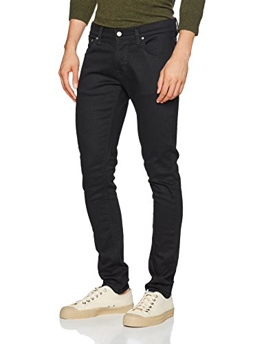 Nudie Jeans Herren Jeans Slim Tight Terry Nero (Deep Black)
