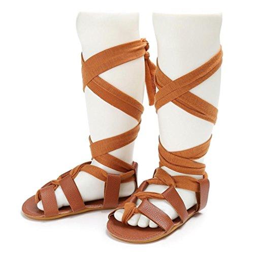 Babyschuhe Longra Baby Neugeborene Bandage Roman Sandalen Kreuz gebunden Sohle Schuhe Jungen Mädchen Kleinkind Krippe Prewalker Schuhe