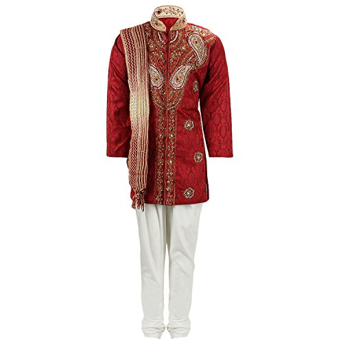 Klaud Zee Kids Ethnic Indo-Western Cotton Silk Festive and Party Wear Sherwani...