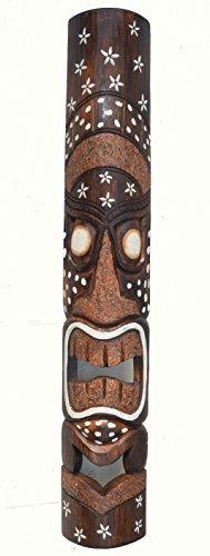 tikimaske-aus-madera-con-Tiki-Hawaii-Estilo-in-100cm-LARGO-CON-ORNAMENTACIONES-Mscara-Mscara-de-pared