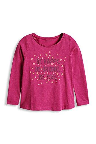 ESPRIT Mädchen Langarmshirt 085EE7K010, Gr. 128 (Herstellergröße: 128/134), Rosa (DARK PINK 650)