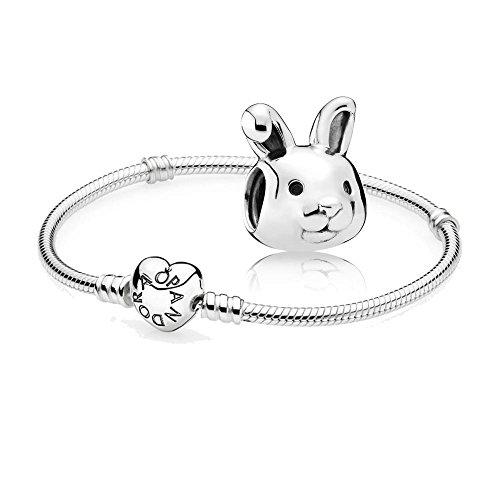 Original-Pandora-Geschenkset-1-Silber-Armband-mit-Herz-Schliee-590719-und-1-Silber-Charm-Aufmerksames-Hschen-791838