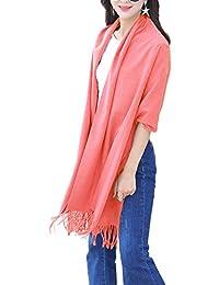 ISASSY Damen Pashmina-Schal, Kaschmir, warm, sehr groß und lang