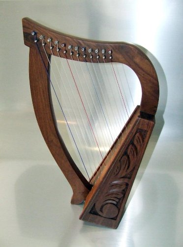 Harpe-Celtique-avec-12-cordes-fabriqu--partir-de-palissandre