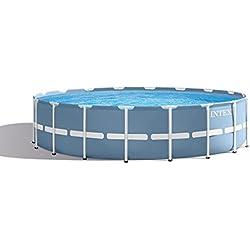 INTEX Kit Piscine Prism Rondo Frame, 16805L Bleu Diamètre 457x 122cm