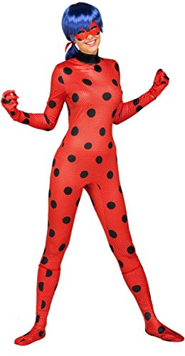 Imagen de yiija fast fun  disfraz ladybug adulto, m l viving costumes 231163