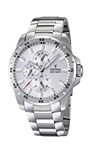 Festina F16662/1 - Reloj analógico de cuarzo para hombre con correa de acero inoxidable, color plateado de Festina