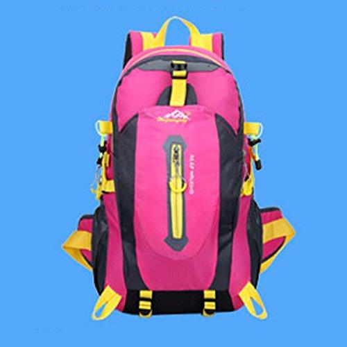 LQABW Alpinismo Outdoor Spalla Uomini Donne Impermeabile Pacchetto Di Svago Di Grande Capienza 65L Borsa Da Viaggio Zaino 40L,Green Pink