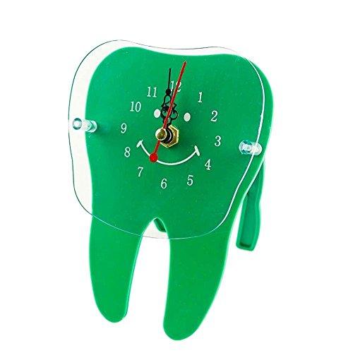 Earlywish Schreibtisch Tischuhr Zahn Molar Form Zahnmedizin Zahnarzt Büro Arzt Dekoration - Grün