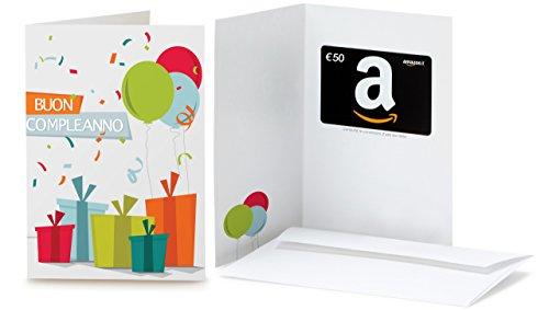 Buono Regalo Amazon.it - €50 (Biglietto d'auguri Coriandoli)